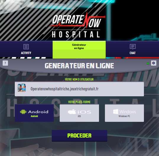 operate now hospital triche astuce